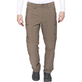 The North Face Exploration Pantalon convertible avec fermeture éclair Long Homme, weimaraner brown